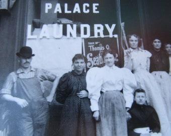 Vintage Large format Chicago Photograph Palace Laundry  5921 Lowe Avenue Historic Chicago