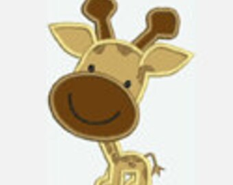 Giraffe...Embroidery Applique Design...Three sizes for multiple hoops...Item1021...INSTANT DOWNLOAD