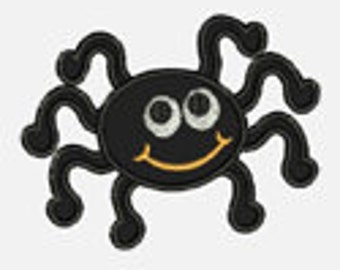 Happy Spider...Embroidery Applique Design...Three sizes for multiple hoops...Item1313...INSTANT DOWNLOAD