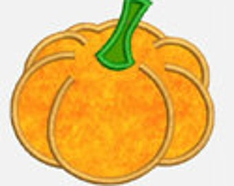 Pumpkin ...Embroidery Applique Design...Three sizes for multiple hoops...Item1271...INSTANT DOWNLOAD