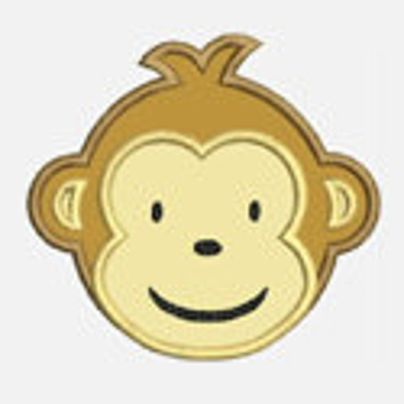 Modern Monkey Boy...Embroidery Applique Design...Three sizes for multiple hoops...Item1155.