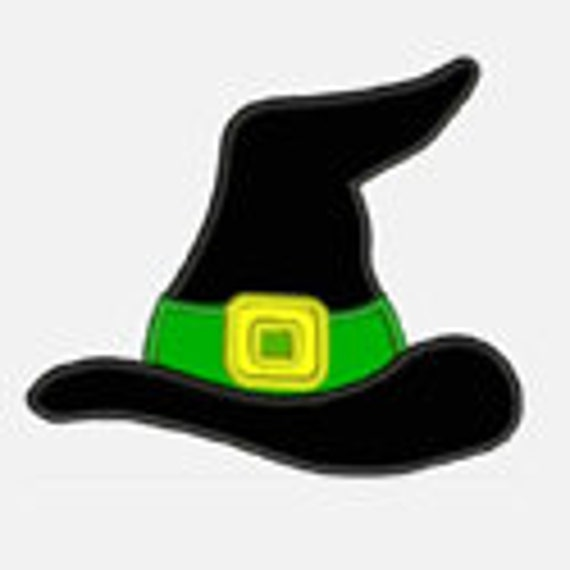 Witch Hat...Embroidery Applique Design...Three sizes for multiple hoops...Item1003...INSTANT DOWNLOAD