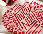 Joyeux Noel Tea Towel