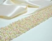 Sash: Pearl Wedding Belt - Cream, Champagne, Pink