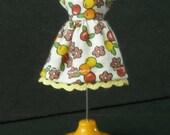 Tiny Fruit Print Dress for LPS Blythe or Petite Blythe