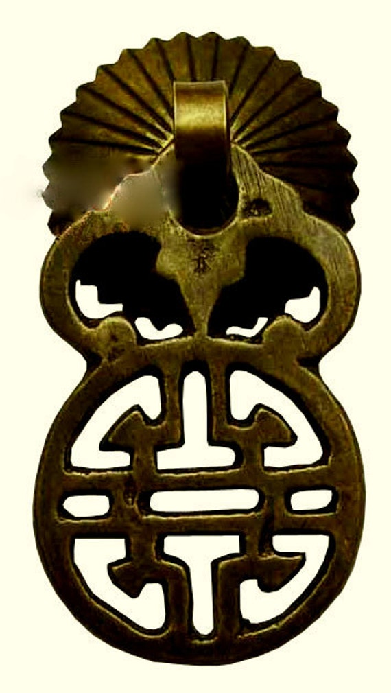 Chinese Hardware Traditional Brass Door Handle Cabinet