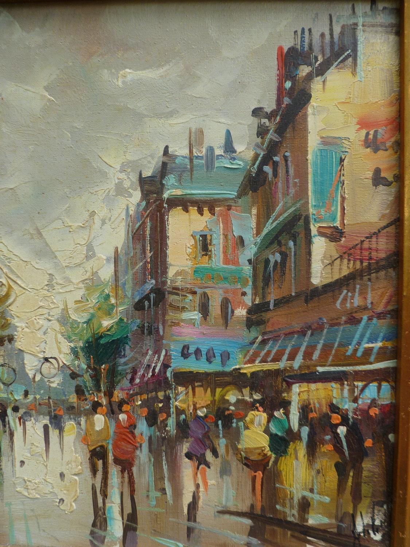 2 Paris Street Scene Paintings Antonio by MoonstruckCottage