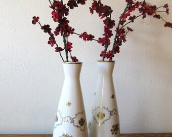 Pair of Tall Vintage German Vases