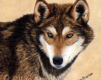 WOLF PRINT, giclee print, wolves, wolf decor, Ellen Strope, castteam, cabin decor, rustic decor, lodge decor, art prints, prints