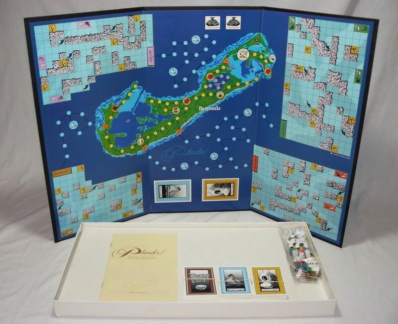 Plunder The Great Bermuda Treasure Hunt Board Game Vintage