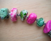 Pink and Green Magnesite Turquoise Necklace