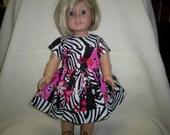 Zebra stripes dress  for american girl doll