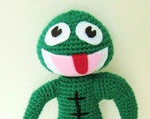 Crochet Pattern Clyde Frog Amigurumi and Traditional Frog