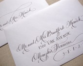 Calligraphy Envelope Addressing--The Savannah Font with Block Font