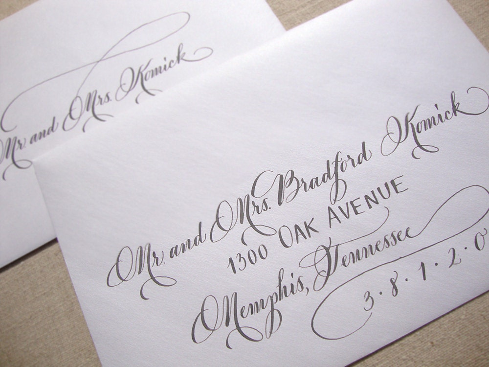 Wedding Envelopes Calligraphy Images