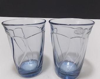 Vintage Noritaki Sweet Swirl Light Blue Water Goblets - Set of two