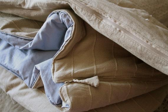 Hand tied cotton adult sleeping bag