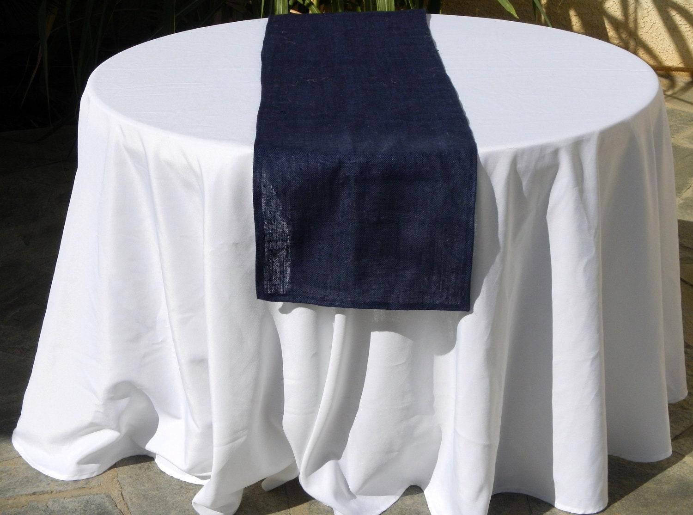 Burlap Table Runner Navy Blue Burlap Blue Sultana Burlap