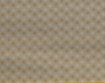 Light Brown Fabric White Fabric Mini Dots Fabric Baby Bear Hugs Fabric 2 3/4 Yards Quilting Cotton Fabric Craft Supplies YacketUSA