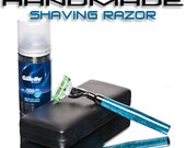 Fine Shaving Razor for a man Razor handle is a perfect handmade gift for a great shave Very cool