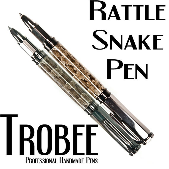 Rattlesnake skin custom pen rollerball high quality writing instrument writes beautifully