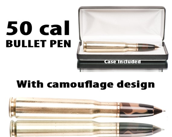 Camo Bullet Pen - 50 caliber machine gun