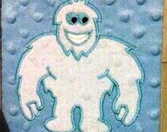 Yeti - machine embroidery applique and filled designs, file - 4x4, 5x7 and 6x10 INSTANT DOWNLOAD