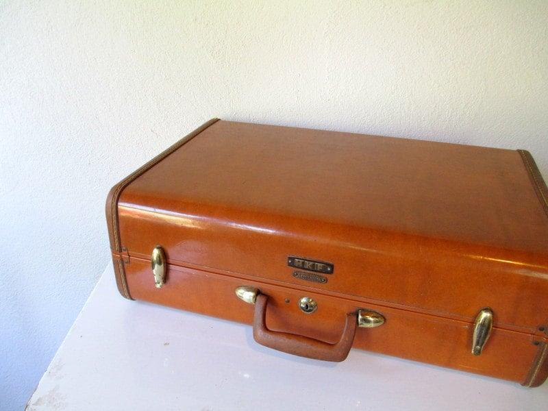 Vintage Samsonite Hard Shell Suitcase Tan By