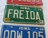 Vintage License Plate, Iowa License Plate, License Plate, Iowa. Personalized, 1986, 1979, 1966
