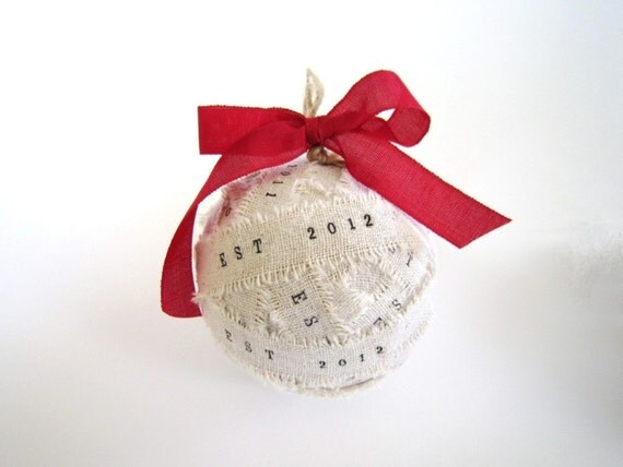 Handmade Personalized Christmas Ornament / personalized Baby 1st Christmas ornaments newly weds first christmas ornaments