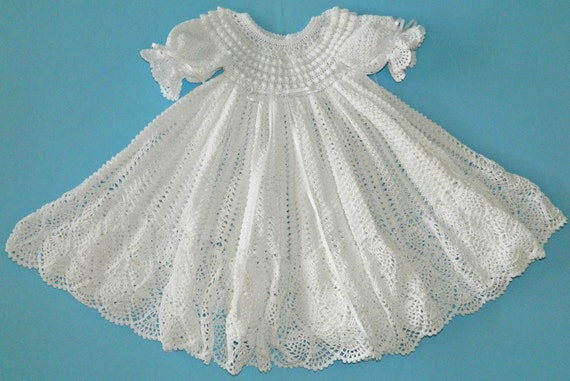 White Christening / Blessing Gown -  Baby Dress - READY TO SHIP -  13079-G