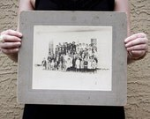 "Large Vintage Mounted Photo ""School Picture with Baseball Boys"", Photography, Paper Ephemera, Snapshot, Old Photo, Collectibles - dawnandross"