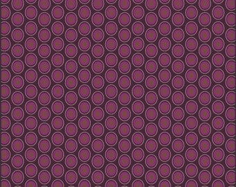 Art Gallery Oval Elements Dots in Eggplant 1 yard