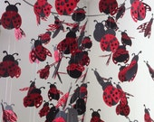 Ladybug chandelier Mobile - black and red