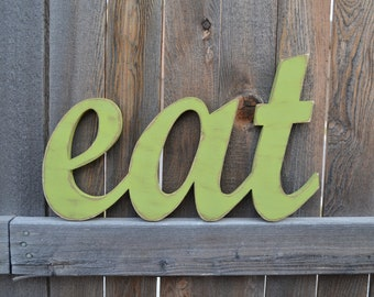 Eat Sign - Kitchen Wall Words - Wooden