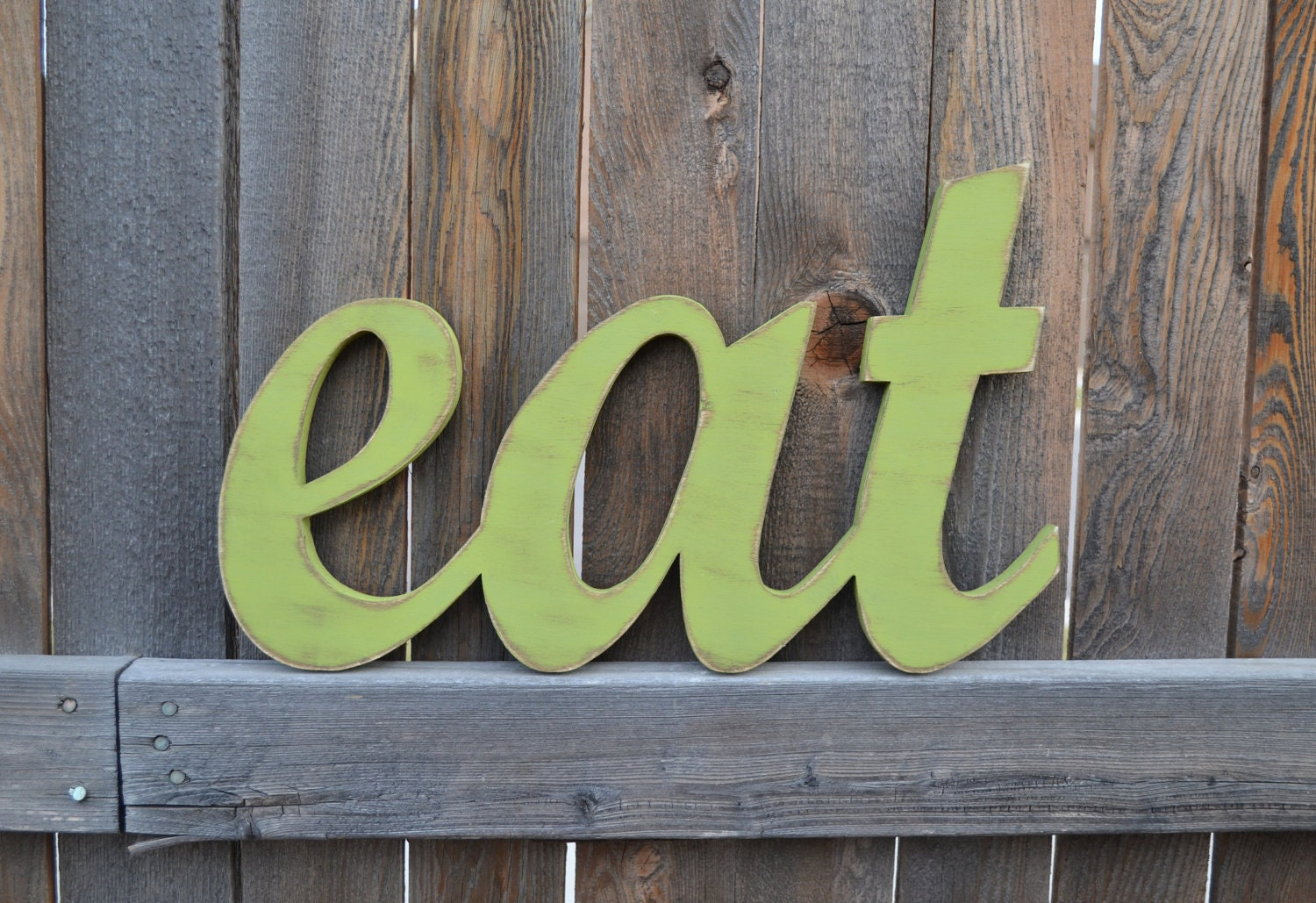 Eat Sign Kitchen Wall Words Wooden