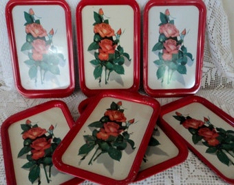 "Vintage ""Roses"" Serving Trays"