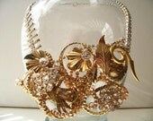 Gold and Rhinestone Metal Wire Medley