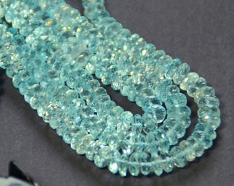 "8""  5-6mm AAA Blue Topaz faceted beads"