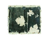 Botanical Siluoette, ooak collage, mono print on handmade paper