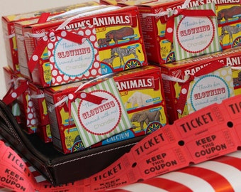 DIY Printable, Vintage Circus FAVOR TAGS