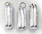Screenprint Fabric Keychain - Backpack Accessory