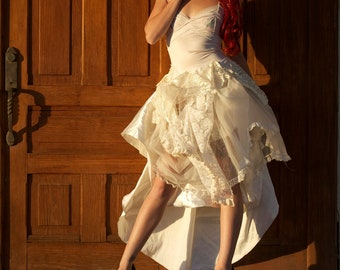 Gothic Lolita Dress - Steampunk Lady White Wedding Dress - Made to Order