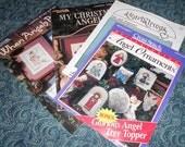Angel Cross Stitch Patterns, Christmas, Ornaments, Tree Topper, HeartStrings, Leisure Arts, Cross Stitch, 4 Patterns