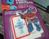TRANSFORMER Optimus Prime Make your Own Birthday Candle 1984 Mattel