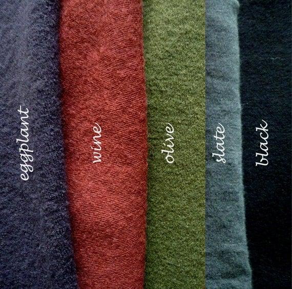 Organic Merino Wool Fabric - Pre-Washed and Felted Interlock Yardage