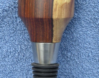 Bottle stopper, cocobolo