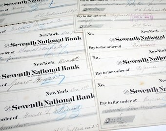 10 Antique Checks from the 1890s