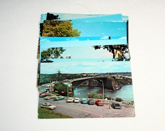 12 Vintage New Brunswick Canada Chrome Postcards Blank - Travel Themed Wedding Guestbook