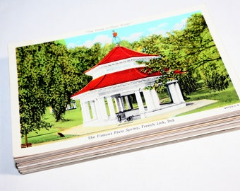 50 Vintage Indiana Postcards Blank - Wedding Guestbook
